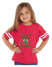 CSU Rams Pink Toddler Fine Jersey Football Tee